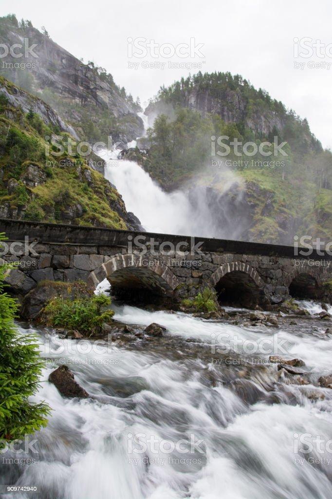 Lotefossen, Hordaland, Norway stock photo