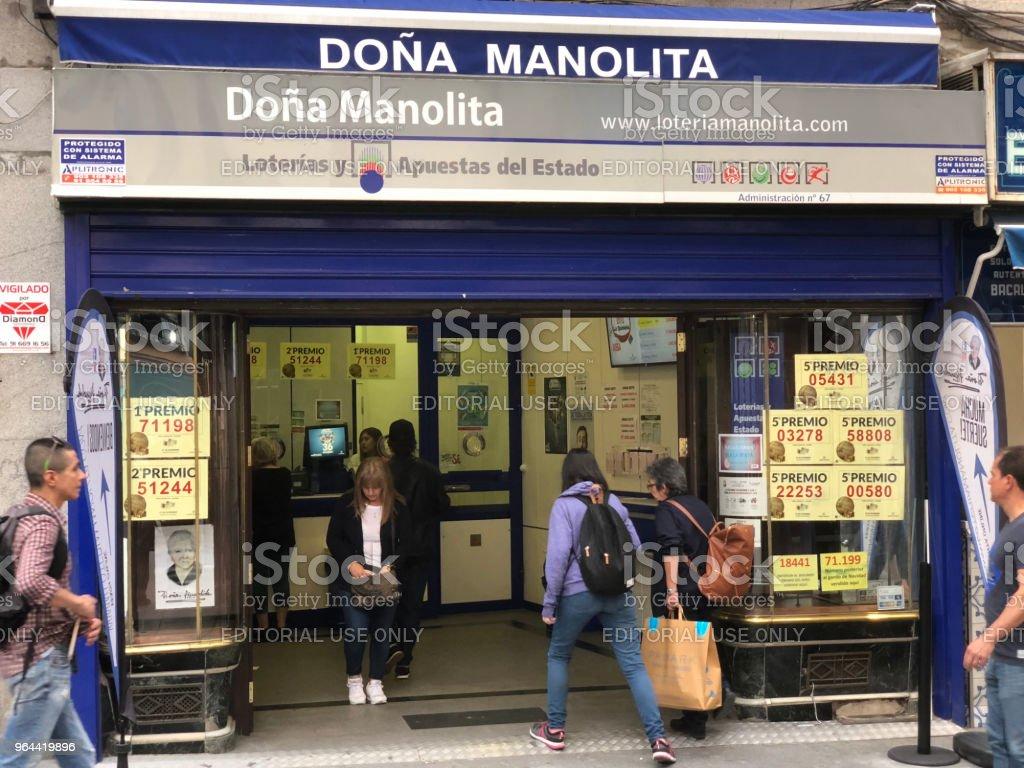 LOTERIA nacional doña Manolita - Royalty-free Aansporing Stockfoto