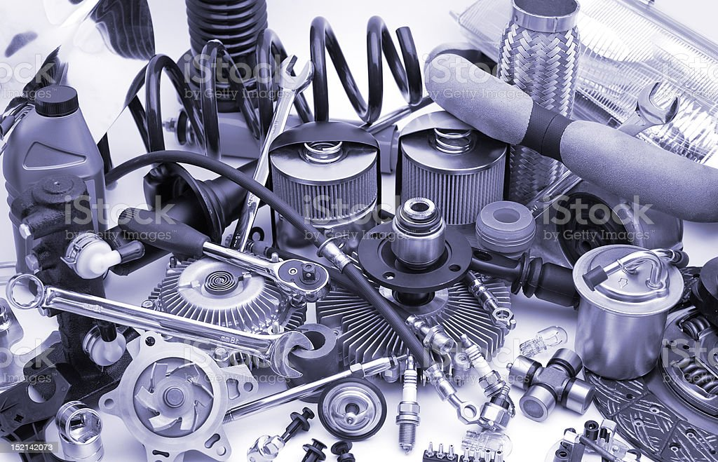 lots of auto parts royalty-free stock photo