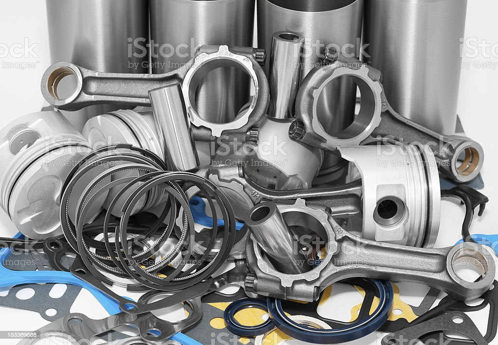 lots of auto spare parts royalty-free stock photo
