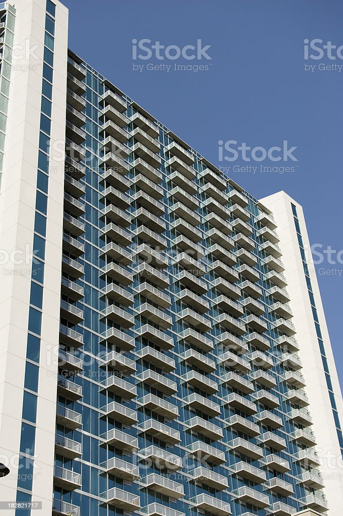 lots of balconies stock photo