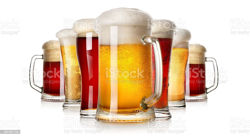 Lots of beer stock photo