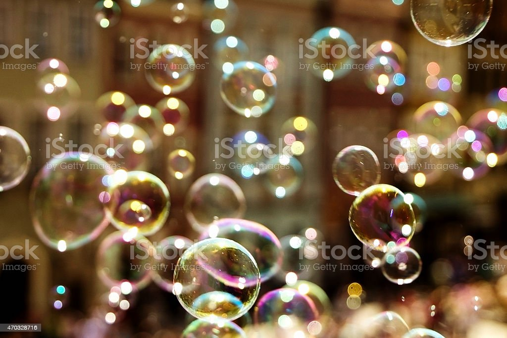Lots of bubbles stock photo