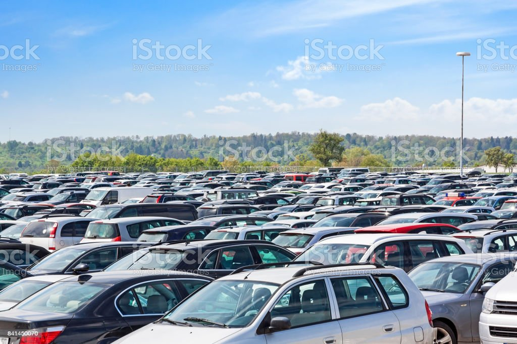 Lots of cars parking stock photo