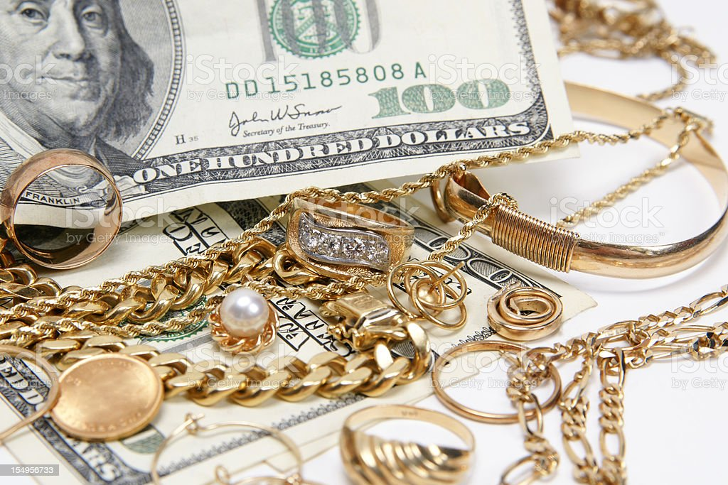 lots of cash for gold royalty-free stock photo