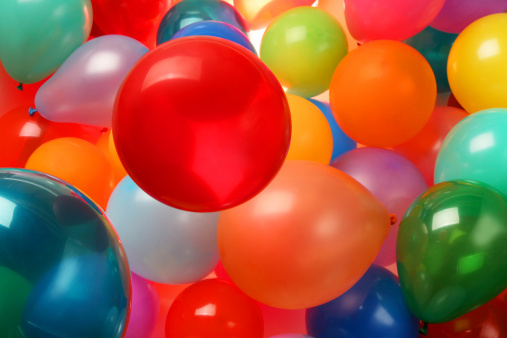 Lots of Colorful Balloons