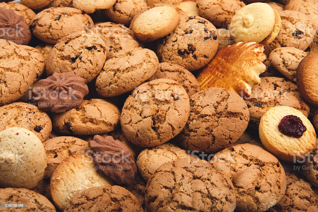 Lots of cookies and biscuits background royalty-free stock photo