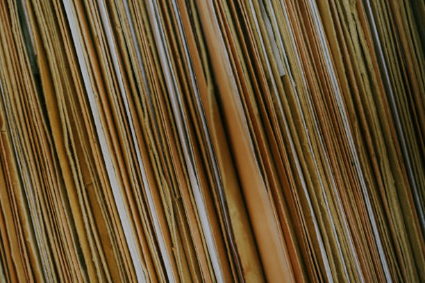 Lots of Files Stacked Tightly stock photo