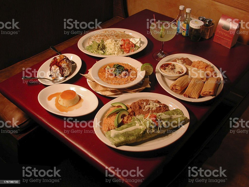 Lots of Food. TexMex stock photo