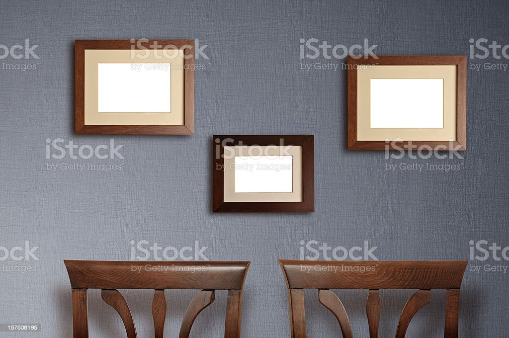 lots of frames on the wall royalty-free stock photo