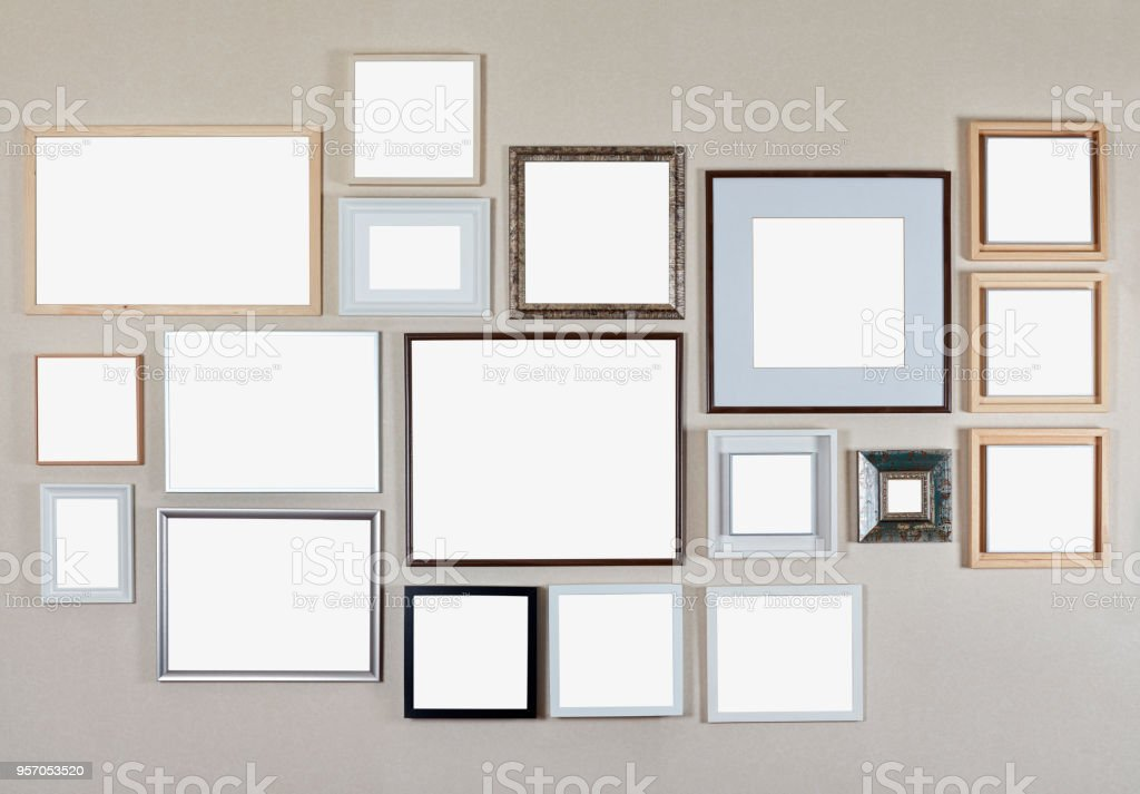 Lots Of Frames On The Wall Stock Photo & More Pictures of Authority ...