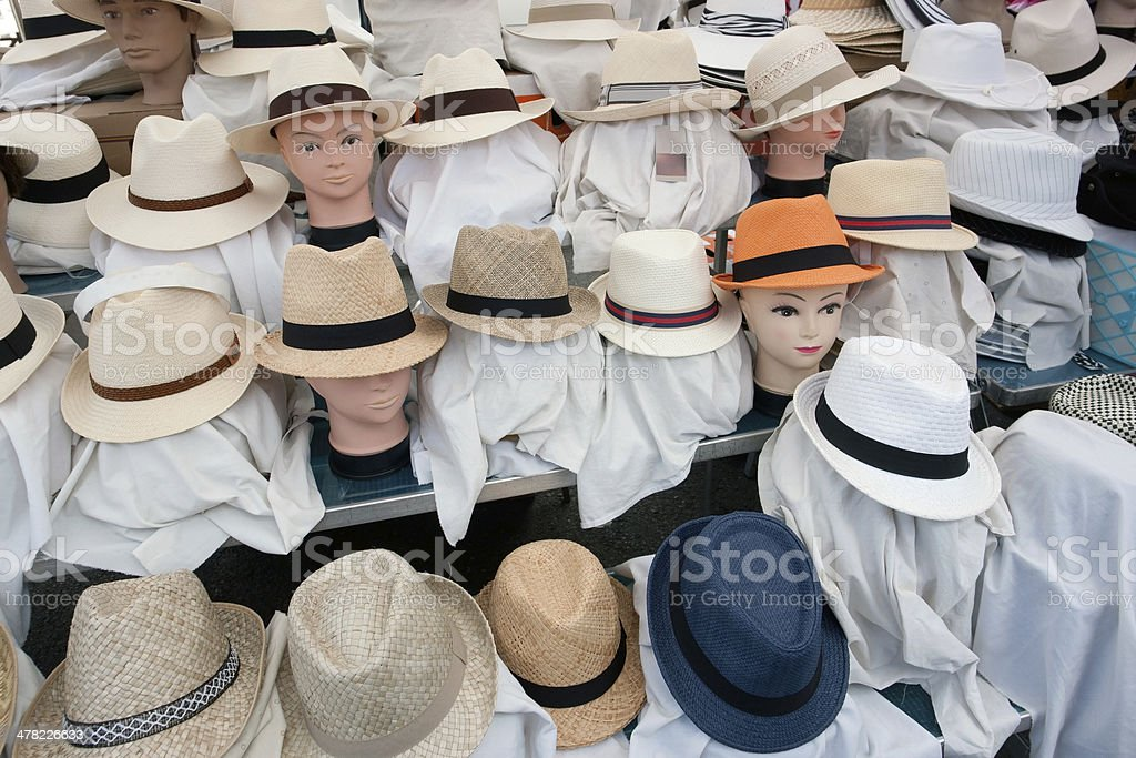 lots of hats stock photo