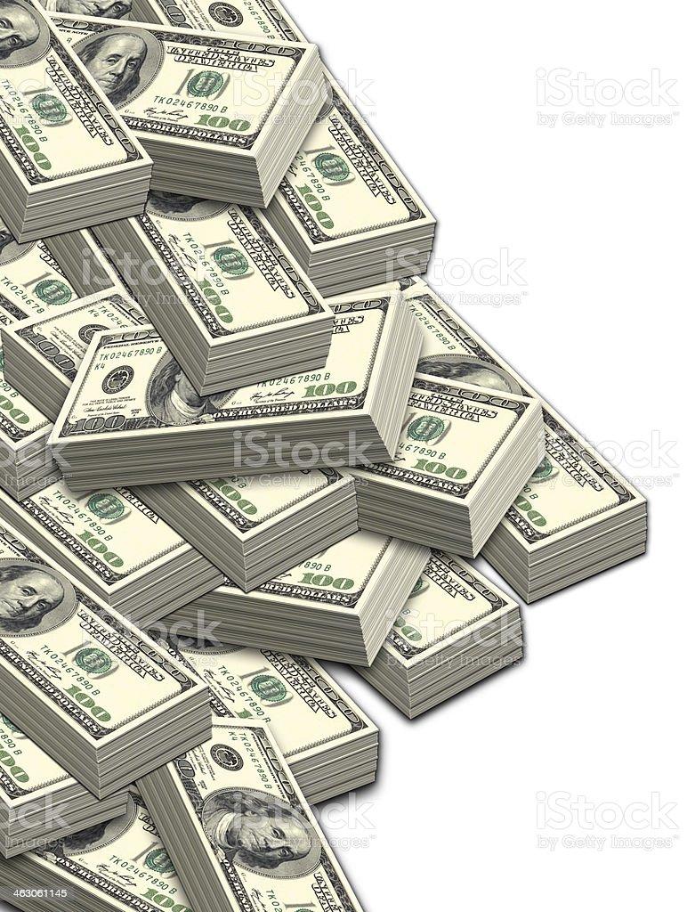 Lots of hundred dollar bills stock photo