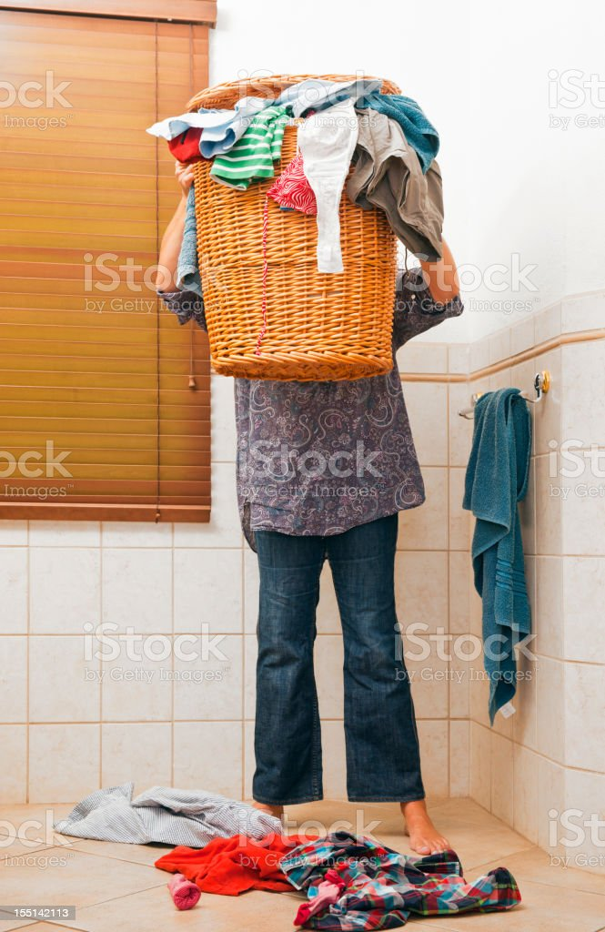 Lots of laundry royalty-free stock photo