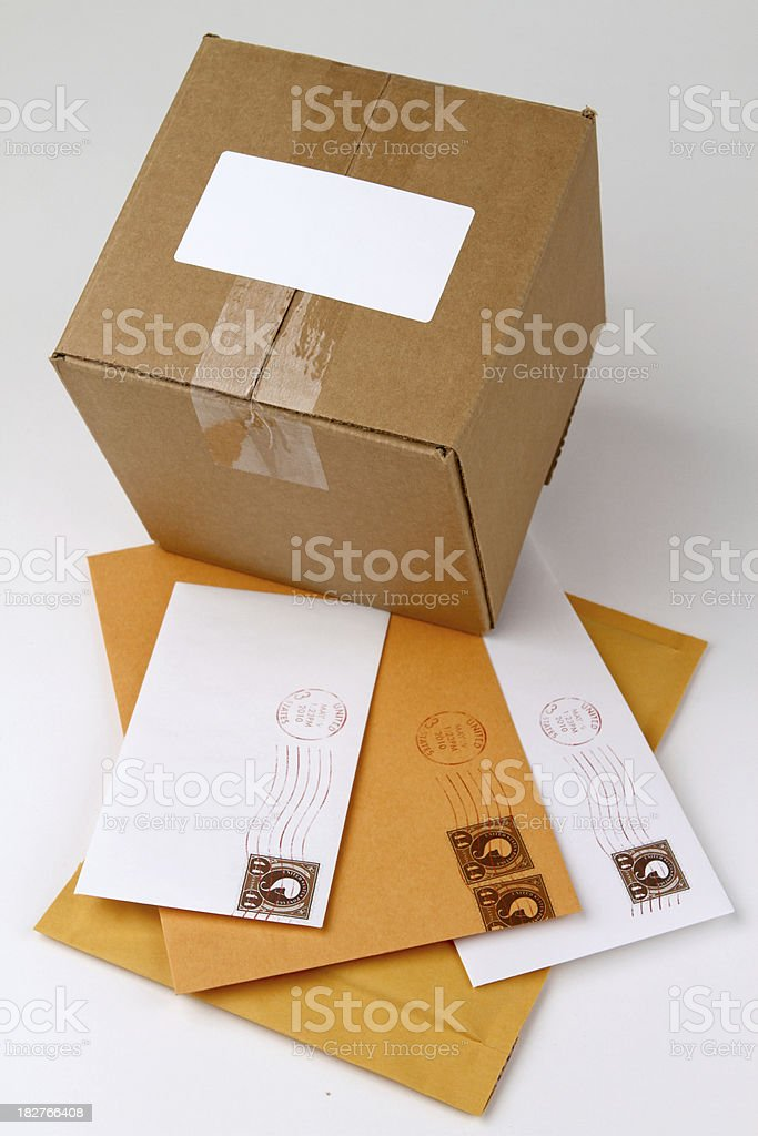 Lots of Mail royalty-free stock photo