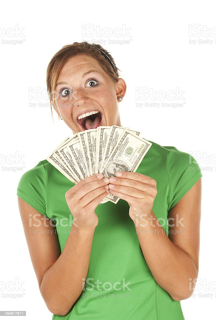 Lots of money in hand royalty-free stock photo