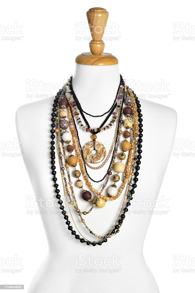 Lots of necklaces royalty-free stock photo