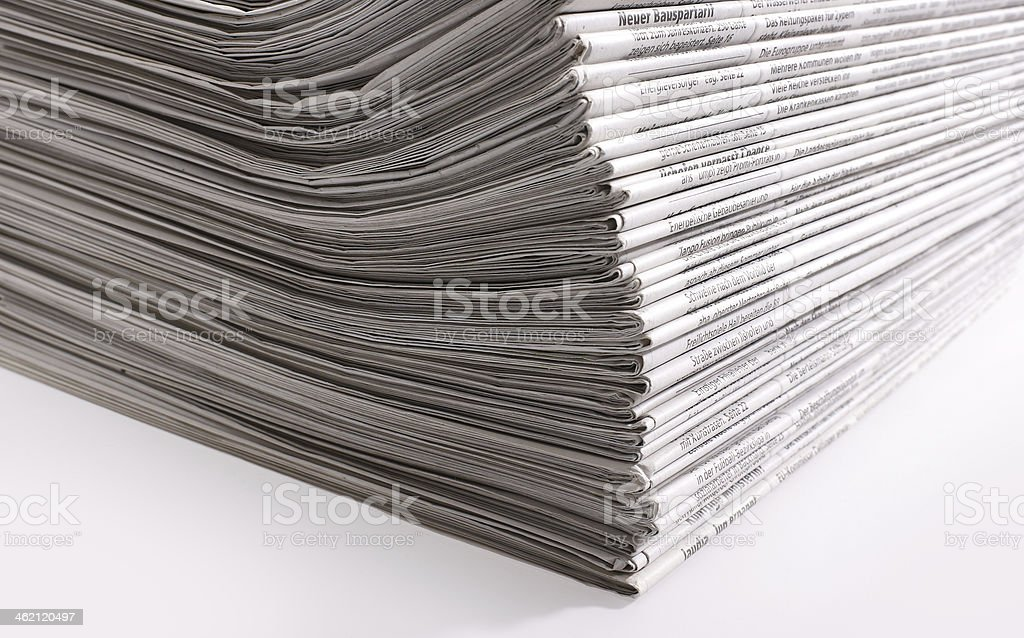lots of newspapers royalty-free stock photo