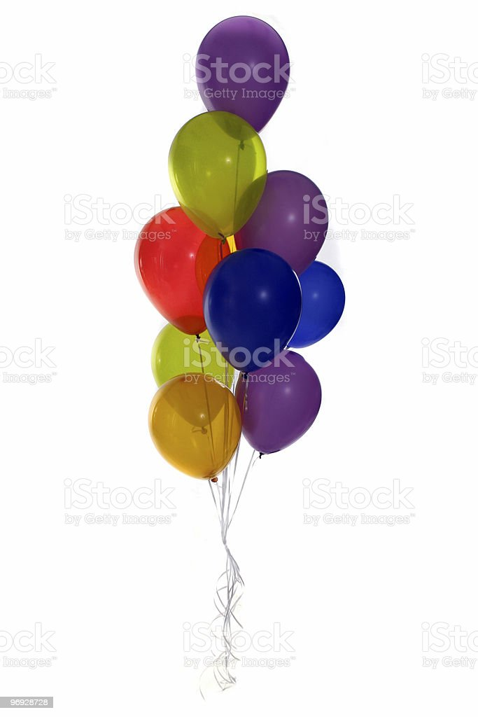 Lots of Party Balloons royalty-free stock photo