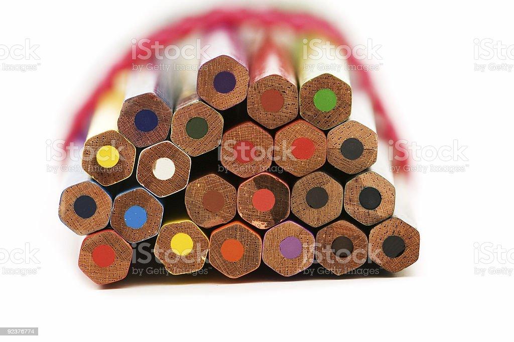Viele Bleistifte, isoliert auf weißem Hintergrund Lizenzfreies stock-foto