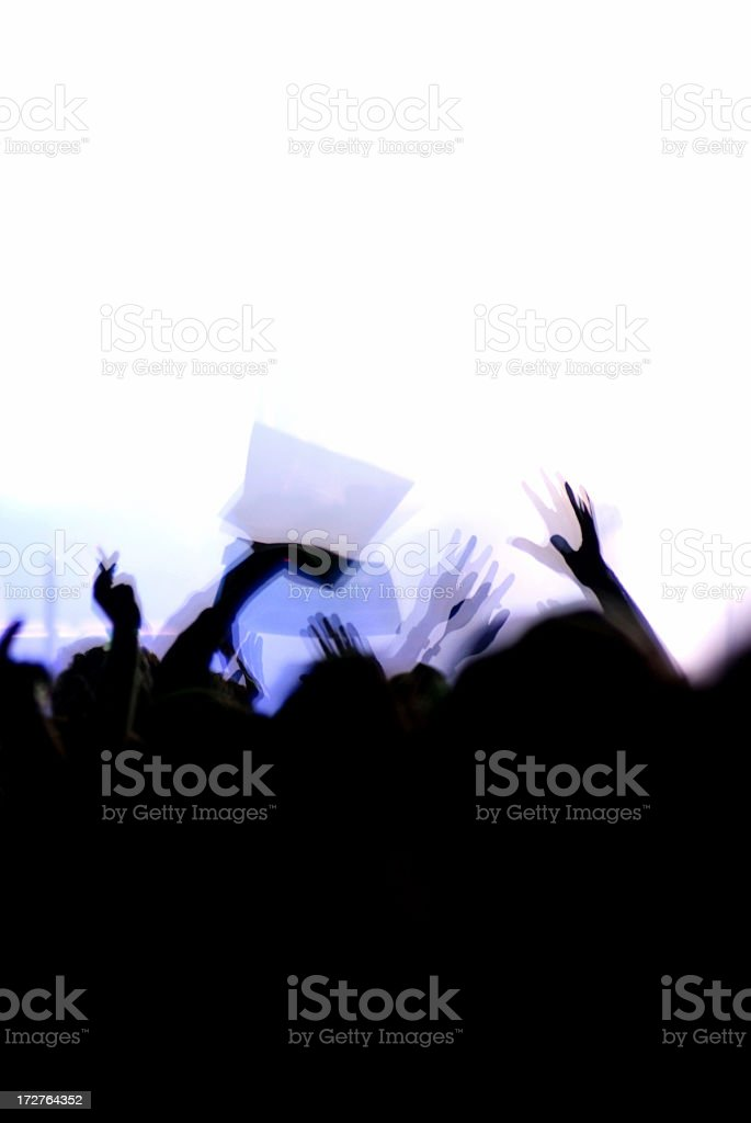 Lots of people in a disco a night. With a white background royalty-free stock photo