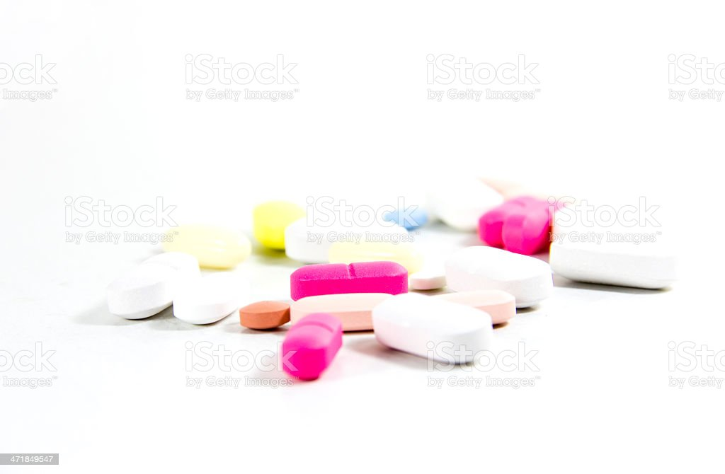 Lots of pills packages royalty-free stock photo