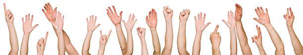 Lots of raised hands
