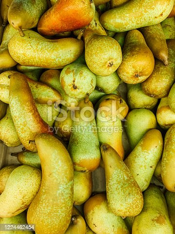 istock lots of ripe sweet pears to eat like a background 1224462454