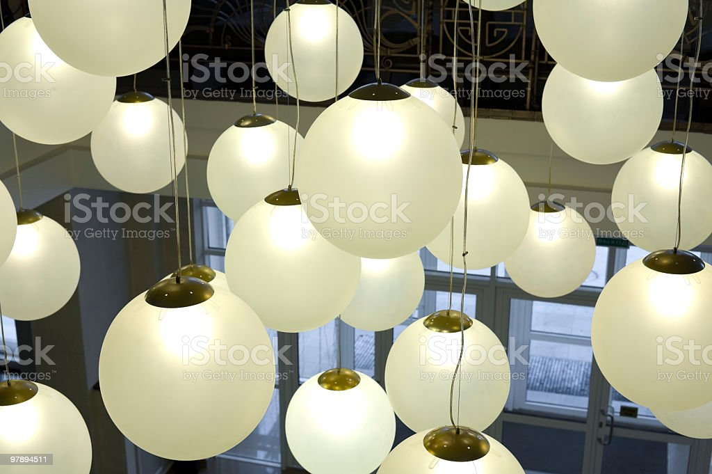 lots of round lamps royalty-free stock photo