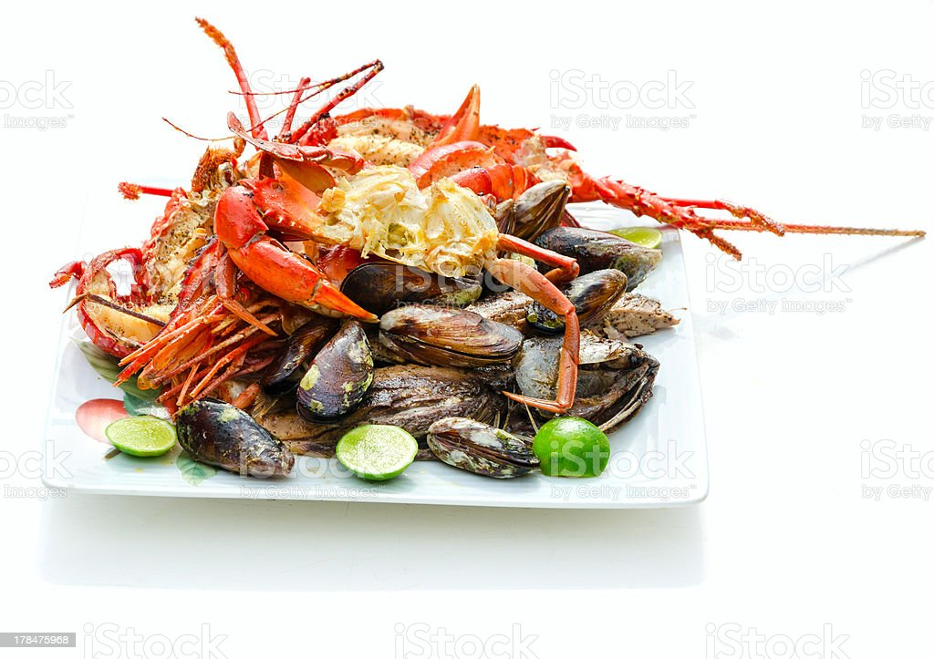 Lots of Sea Food stock photo