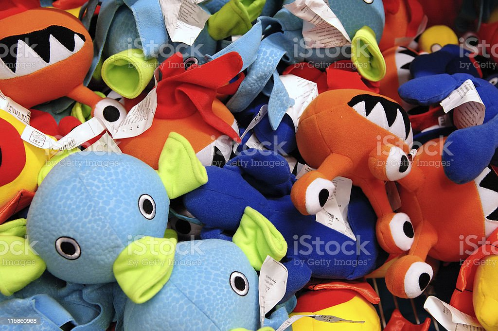 Lots of toys stock photo