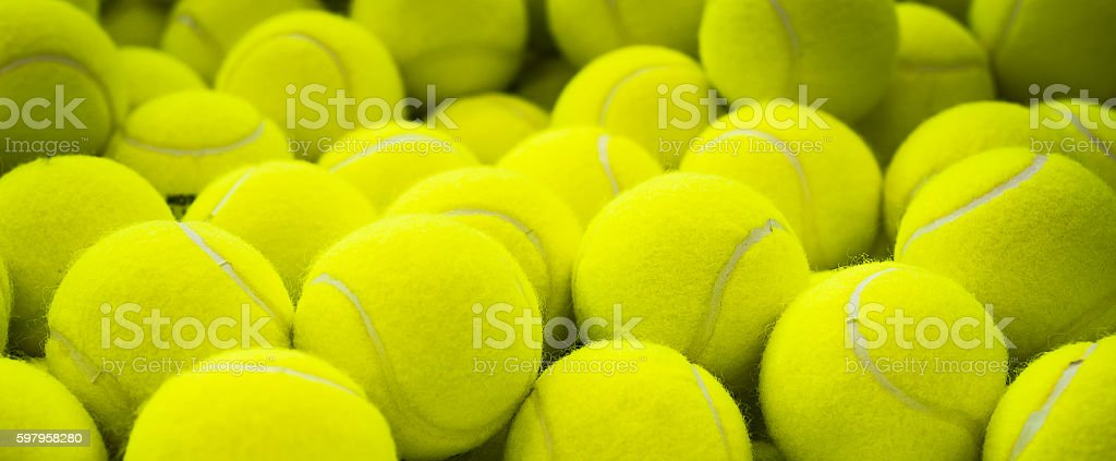 Lots of vibrant tennis balls - foto de stock