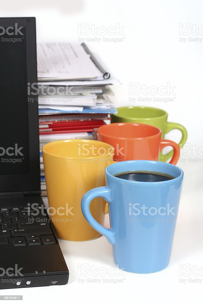 Lots of work? Take a break! royalty-free stock photo