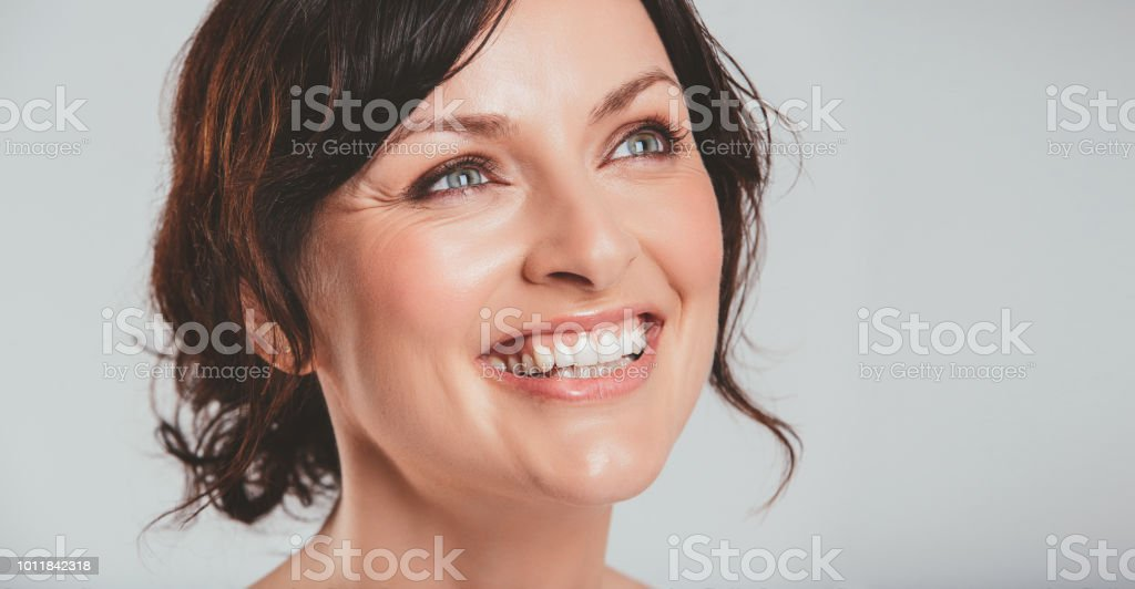 Lot's to smile about when you think of it stock photo