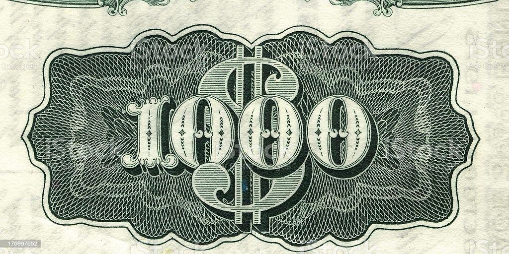 Lotsa bucks. royalty-free stock photo