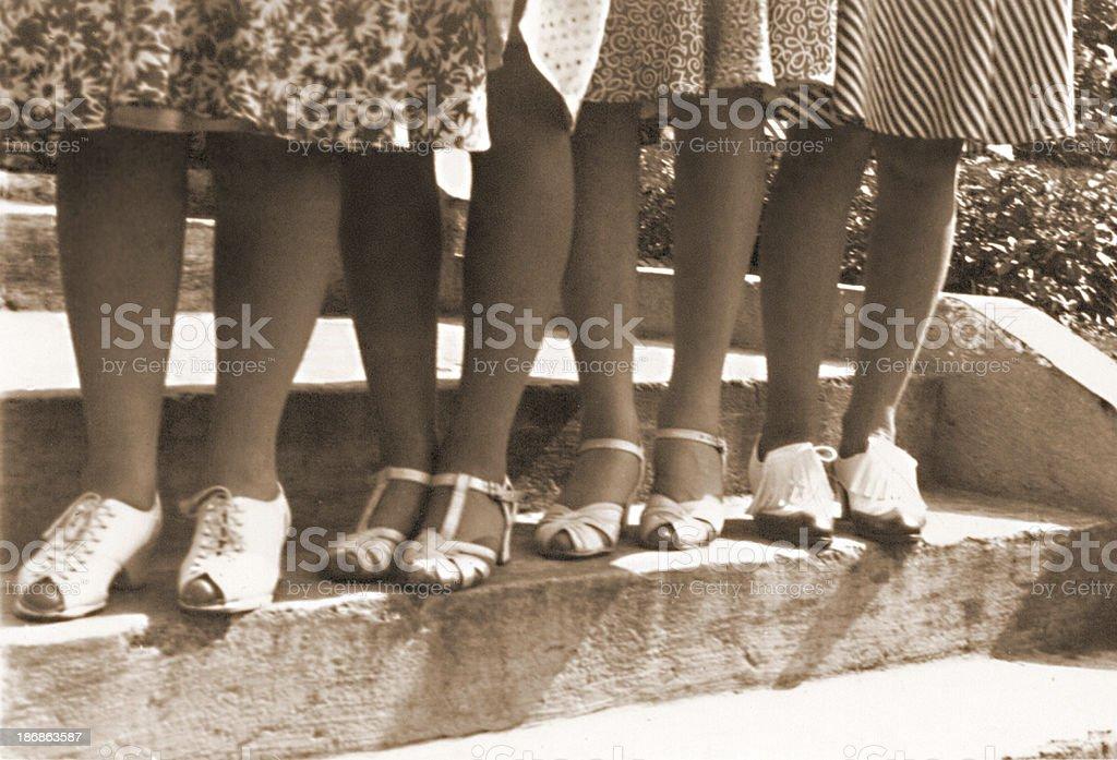 Lotsa Legs stock photo