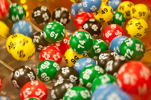 Lottery balls in the mashine Lottery balls lottery stock pictures, royalty-free photos & images