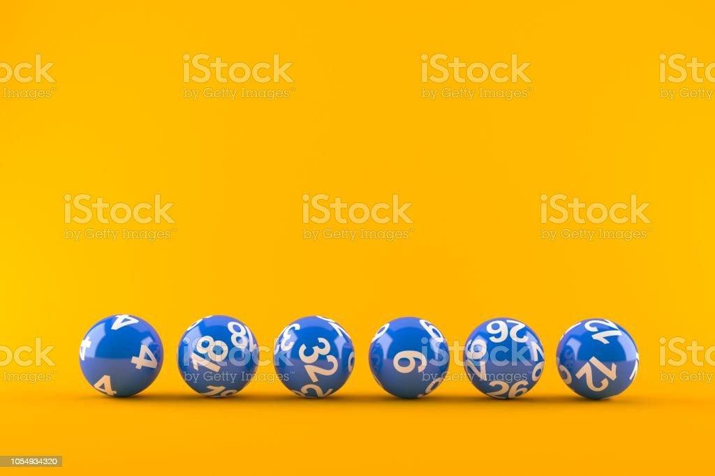 Lottery balls - Foto stock royalty-free di Biglia della lotteria