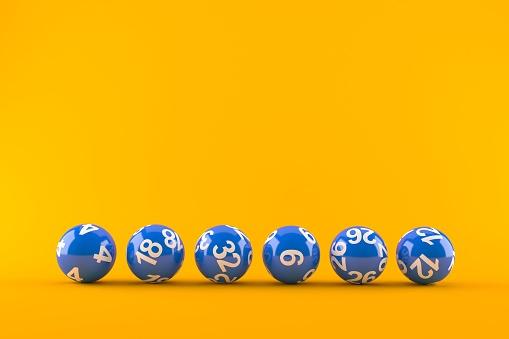 Lottery Balls - Fotografie stock e altre immagini di Biglia della lotteria