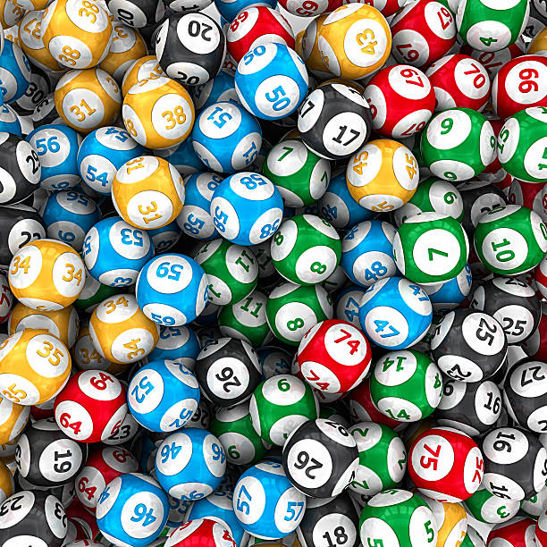 lottery balls lottery balls background.3d render. lottery stock pictures, royalty-free photos & images