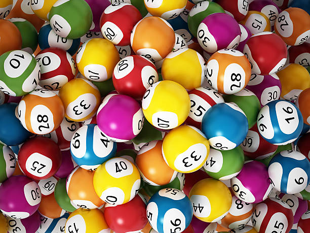 Lottery balls Multi-colored lottery balls. lottery stock pictures, royalty-free photos & images