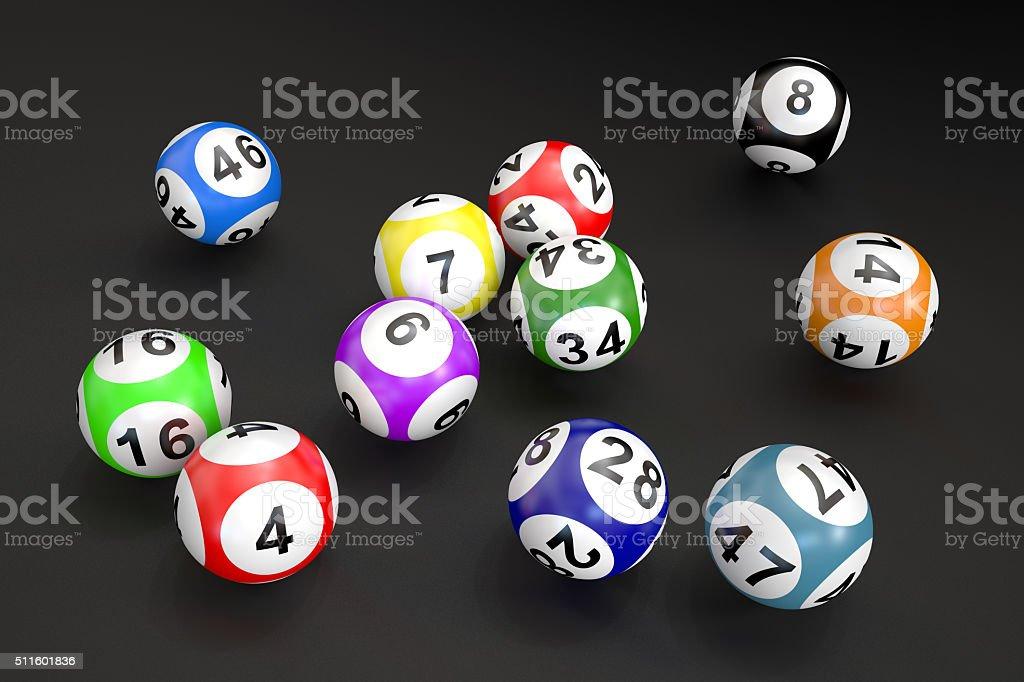 lottery balls stock photo