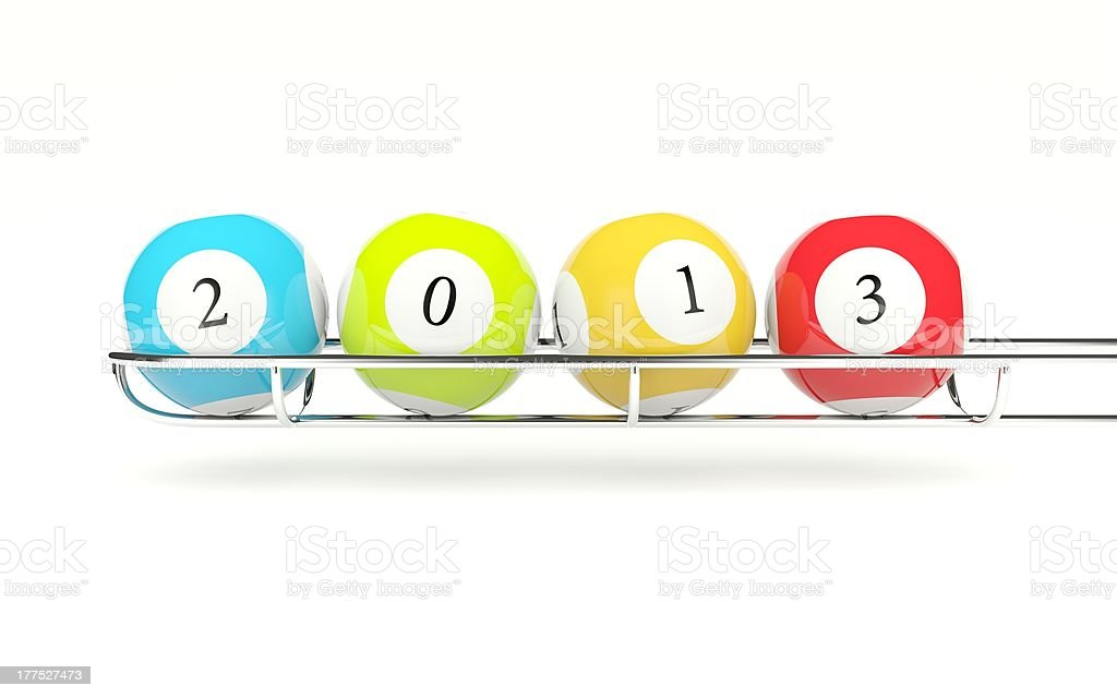 Lottery balls with 2013 new year sing royalty-free stock photo