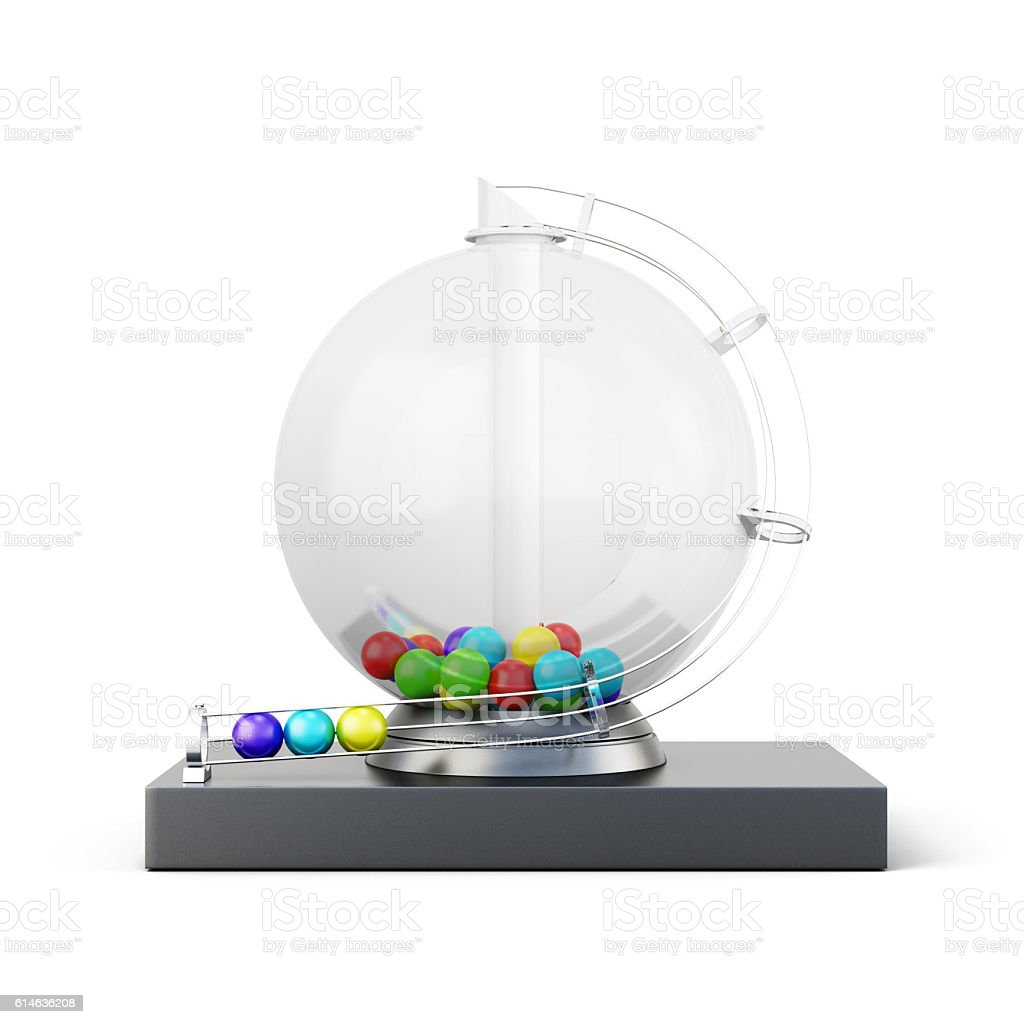 Lottery machine isolated on white background. 3d rendering - Photo