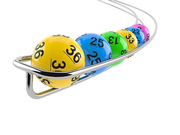 Lottery Lottery balls on white background lottery stock pictures, royalty-free photos & images