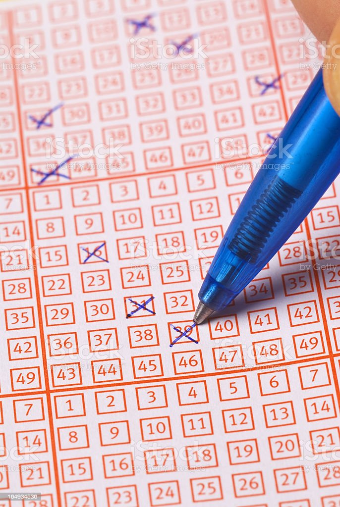 lottery ticket with pen royalty-free stock photo