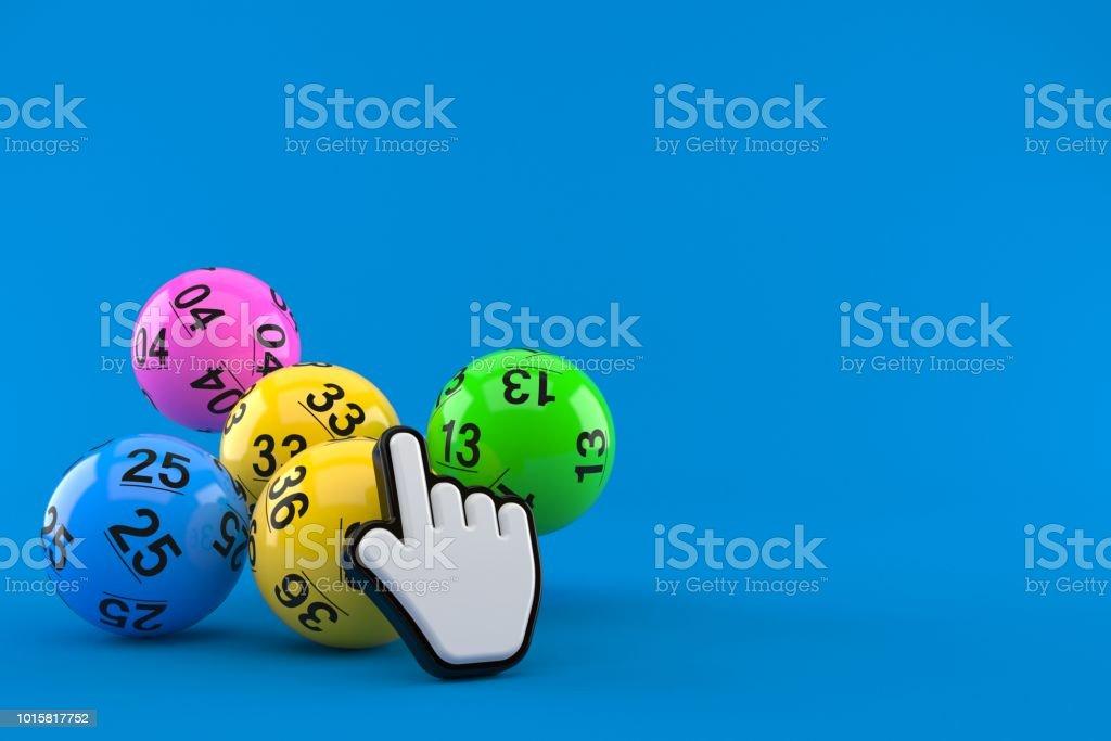 Lotto-Kugeln mit Web-cursor – Foto