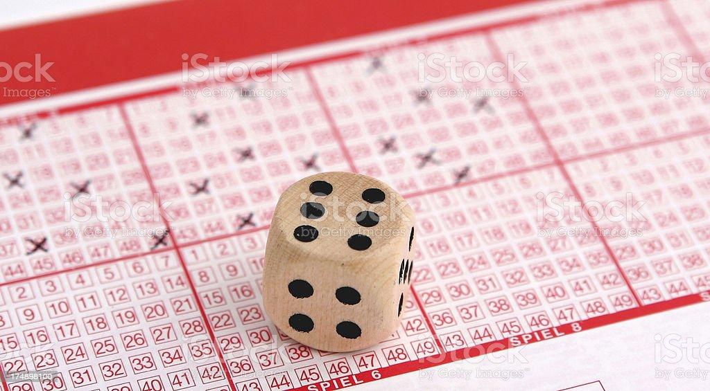 Lotto jackpot royalty-free stock photo