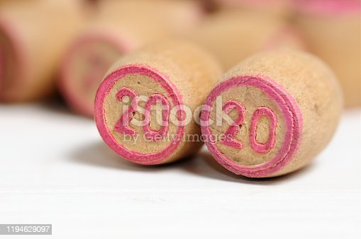 1018565666 istock photo Lotto kegs with New Year calendar dates 1194629097
