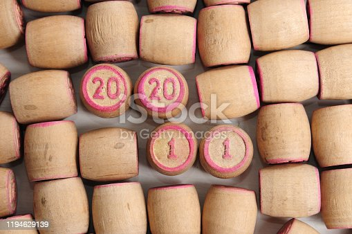 1018565666 istock photo Lotto kegs with New Year calendar dates 1194629139